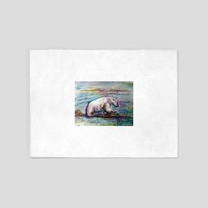 Polar Bear, wildlife art! 5'x7'Area Rug