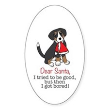 Dear Santa, I Tried To Be Good Sticker