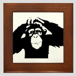 Chimpanzee Icon Framed Tile