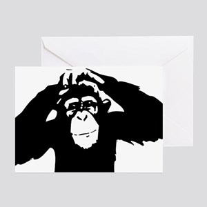 Monkey greeting cards cafepress chimpanzee icon greeting cards pk of 10 m4hsunfo
