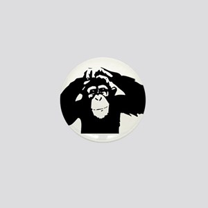 Chimpanzee Icon Mini Button