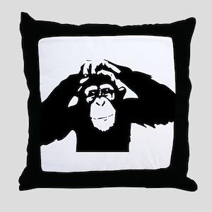 Chimpanzee Icon Throw Pillow
