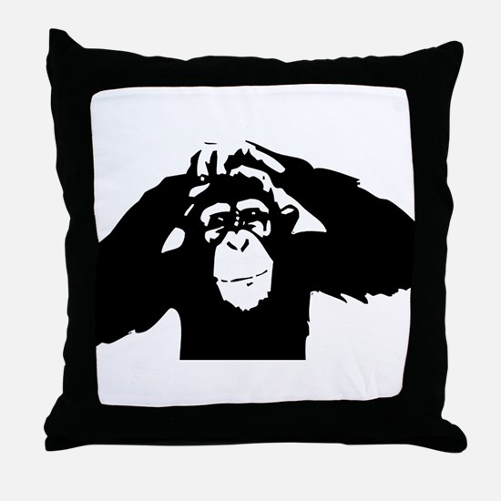Chimpanzee Icon Throw Pillow