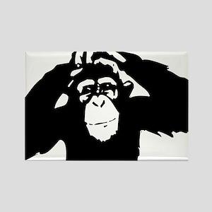 Chimpanzee Icon Rectangle Magnet