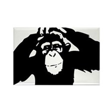 Chimpanzee Icon Rectangle Magnet