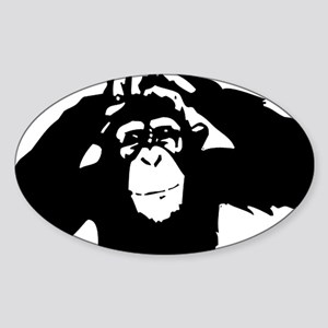 Chimpanzee Icon Oval Sticker