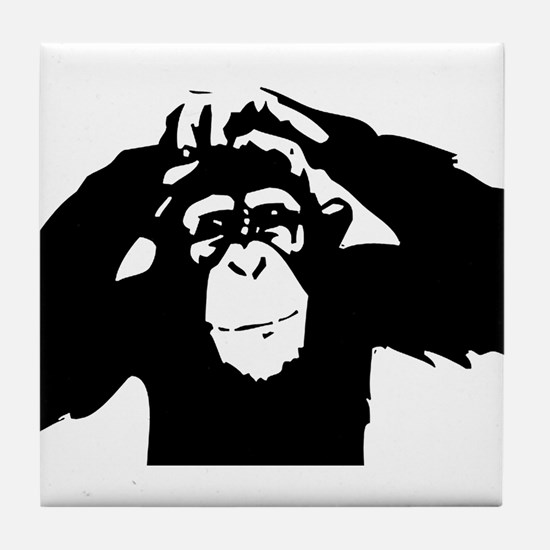 Chimpanzee Icon Tile Coaster