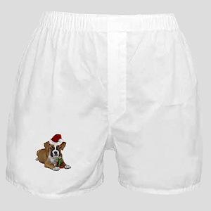 Christmas Boxer puppy Boxer Shorts