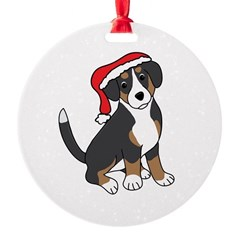 Santa Entlebucher Mountain Dog Ornament