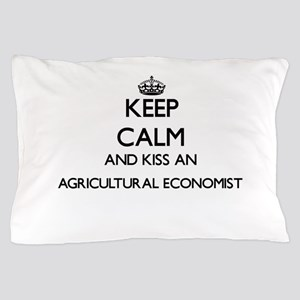Keep calm and kiss an Agricultural Eco Pillow Case