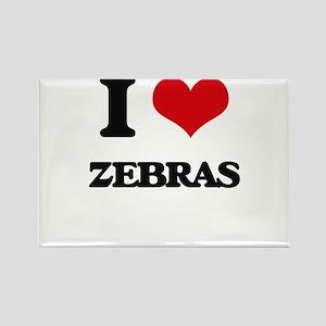 I love Zebras Magnets
