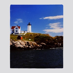 Nubble Light 1 Throw Blanket