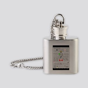 Quote Poster Flask Necklace