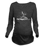 Japanese plum Long Sleeve Maternity T-Shirt