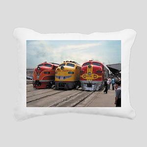 Three Diesels 1989 Rectangular Canvas Pillow