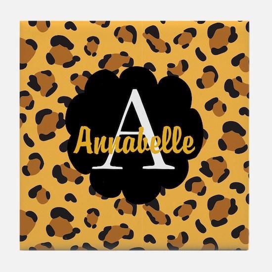 Personalized Name Monogram Gift Tile Coaster