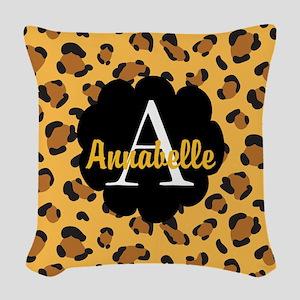 Personalized Name Monogram Gift Woven Throw Pillow