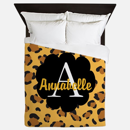 Personalized Name Monogram Gift Queen Duvet