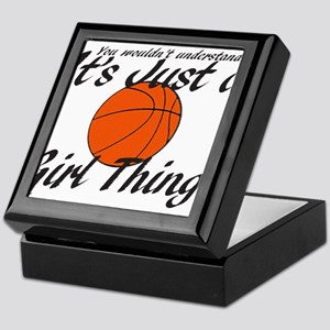 basketball Girl Thing Keepsake Box