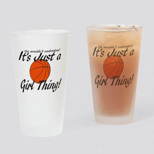 basketball Girl Thing Drinking Glass
