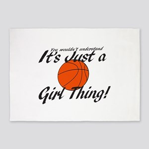 basketball Girl Thing 5'x7'Area Rug