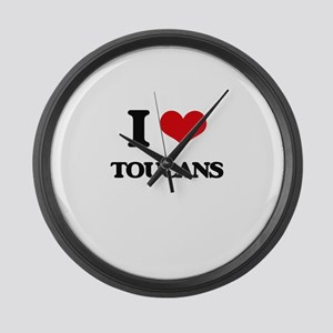 I love Toucans Large Wall Clock