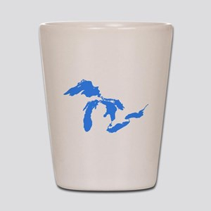 Great Lakes Only Blue3 Shot Glass