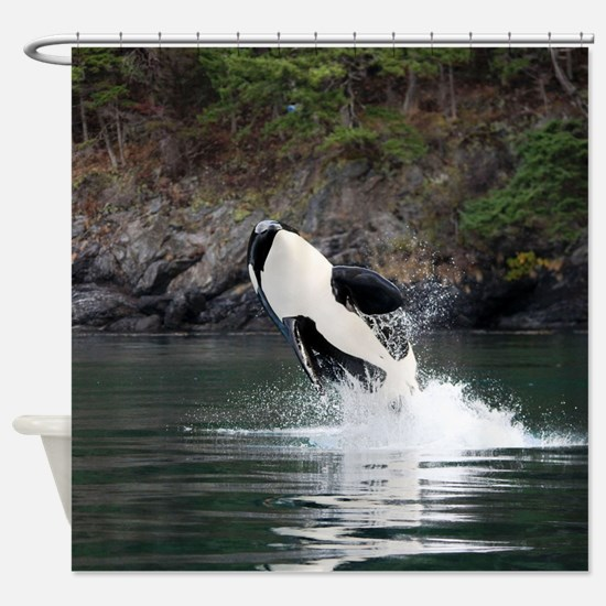 Southern resident killer whales Shower Curtain