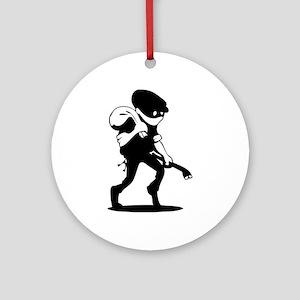Burglar Ornament (Round)