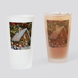 Gingerbread House Drinking Glass