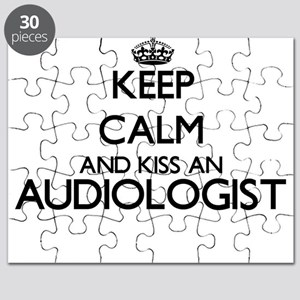 Keep calm and kiss an Audiologist Puzzle