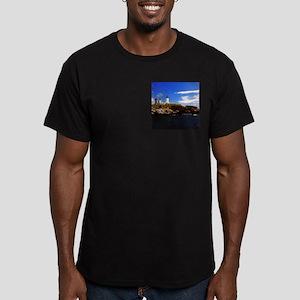 Nubble Light 1 Men's Fitted T-Shirt (dark)