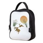 Moon, japanese pampas grass and Neoprene Lunch Bag