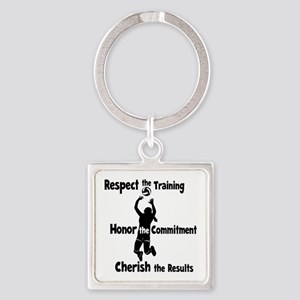 CHERISH VOLLEYBALL Square Keychain