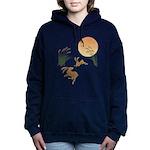 Moon, japanese pampas gr Women's Hooded Sweatshirt