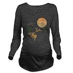 Moon, japanese pampa Long Sleeve Maternity T-Shirt