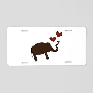 Valentine Elephant Aluminum License Plate