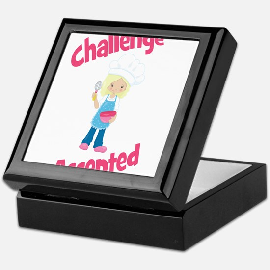 Baker Girl Blonde Challenge Accepted Keepsake Box