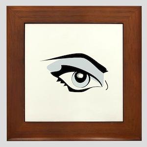 Womans Eye Framed Tile