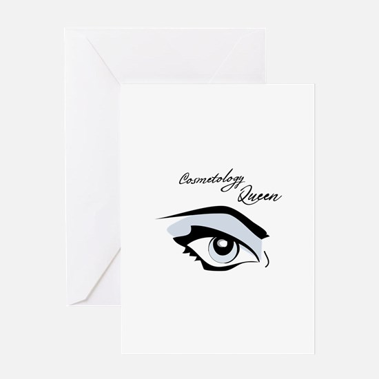 Cosmotology Queen Greeting Cards