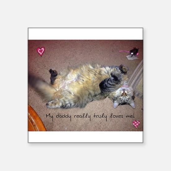 Very happy formerly stray kitty Sticker