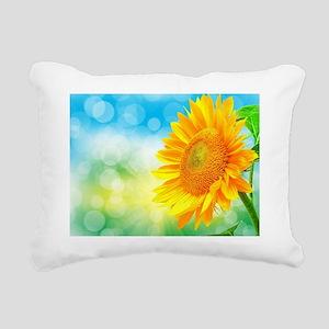 Sunflower Power Rectangular Canvas Pillow