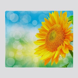 Sunflower Power Throw Blanket