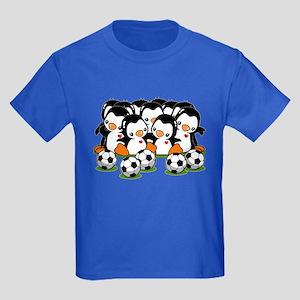 Soccer Penguins Kids Dark T-Shirt