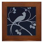 Art Deco Bird Framed Tile