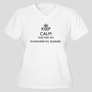 Keep calm and kiss an Environmen Plus Size T-Shirt
