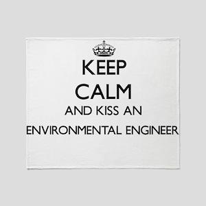 Keep calm and kiss an Environmental Throw Blanket