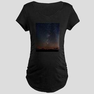 Milky Way Galaxy Hastings Lake Maternity T-Shirt