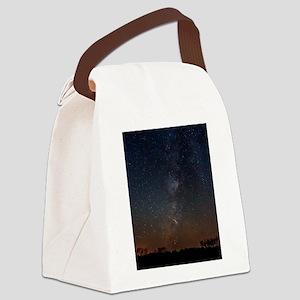 Milky Way Galaxy Hastings Lake Canvas Lunch Bag