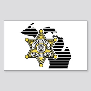 Michigan Sheriff Rectangle Sticker